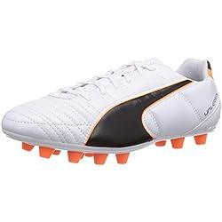 Puma Universal II FG, Calcio scarpe da allenamento uomo, Bianco (Weiß (white-black-fluo flash orange 02)), 39