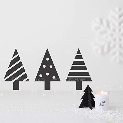 zqyjhkou Mini Weihnachtsbäume Wandaufkleber Steuern Dekor Weihnachten Nordic Wohnzimmer Schlafzimmer Vinyl wasserdichte Tapete Autocollant Wandbild Ea772 87x42 cm