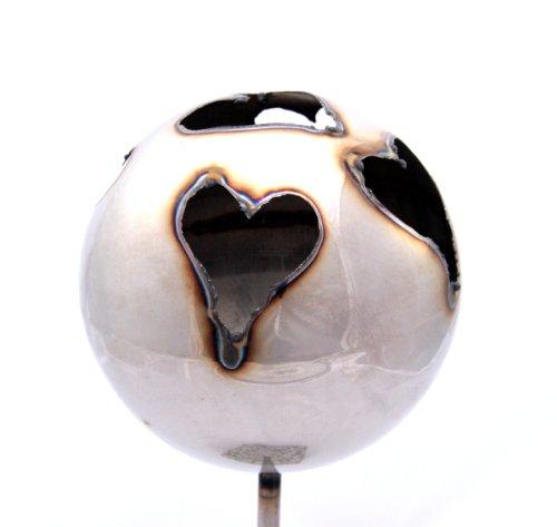 feuerkugel edelstahl Gartenfackel Feuerkugel - Herz, Höhe: 100 cm , Gewicht: 0.55 kg, Durchmesser: 13 cm