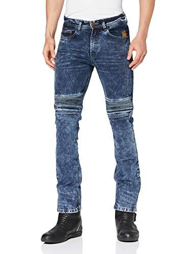 Trilobite Micas Motorrad-Jeans für Herren, im modernen Slim-Fit-Stil, Blau (Blue Washed), 32