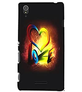 SONY XPERIA T3 LOVE Back Cover by PRINTSWAG