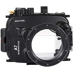 CCDYLQQSK Boîtier étanche pour Appareil Photo Sony A7 A7S A7R, Appareil Photo étanche pour la plongée sous-Marine avec la Natation en plongée sous-Marine - Photographie sous-Marine de 40 m