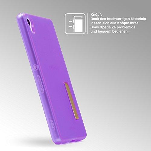Urcover® Apple iPhone 7 Schutz-Hülle – Ultra Slim - [ Stand-Funktion ] Soft Back-Case mit Ständer | flexible federleichte TPU Silikonhülle Handy Schutz-Cover Smartphone Zubehör Schale Farbe: Transpare Lila / Transparent