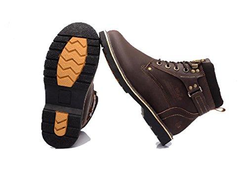 Le nouveau hiver Chaussures de loisirs pour hommes Martin Boots Plus velours garder bottes en coton chaud Bottes High Tool Help brown