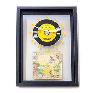 ELTON JOHN – Goodbye Yellow Brick Road: GERAHMTE CD-WANDUHR/Exklusives Design