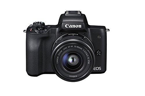 Canon Italia EOS M50 + EF-M Fotocamera Mirrorless, Nero, Lunghezza Focale 15-45...