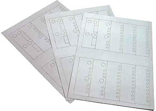 Unbekannt Metz Connect Beschriftungsbogen 891 680 Papier, grau Kennzeichnungsmaterial 4250184119289