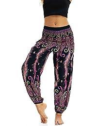 Lonshell Femmes Legging de Sport Pantacourt Femme avec Poches Taille Haute Pantalon Yoga Collant Capri Danse Fitness Gym Minceur Courts de Sport Pantalon Running Sportwear Leggings