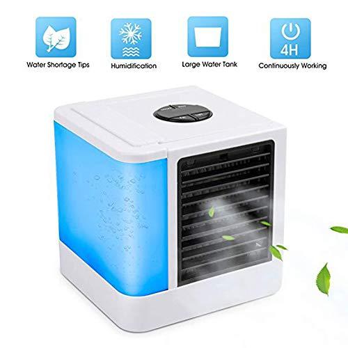 FBEST Luftkühler Ventilator Mobiles Klimagerät Mini Air Cooler 3 in 1 Raumluftkühler Luftreiniger Klimageräte mit Wasserkühlung Zimmer Klimaanlage Ventilator USB für Büro Garage Haus Camping