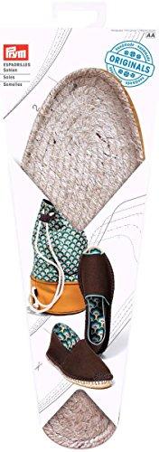 Prym Espadrilles Woven Sohle mit Gummi Boden Schnittmuster, Stroh/Jute, Natur, UK Größe 9,5, EU Größe 44, 1Paar