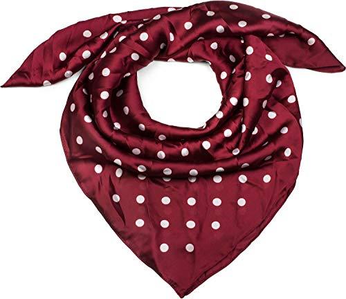 styleBREAKER Foulard quadrato da donna con stampa pois fazzoletto foulard per capelli bandana 01016171