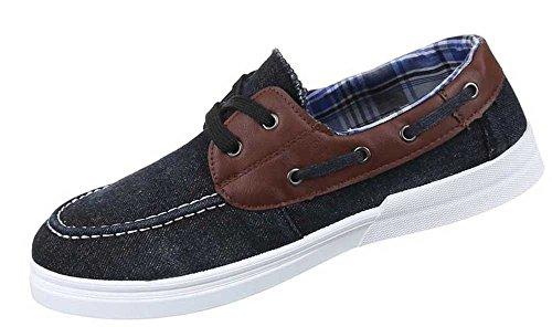 Herren-Schuhe Slipper | schicke Halbschuhe mit Schnürung in verschiedenen Farben und Größen | Schuhcity24 | Slipper Used Optik Schwarz