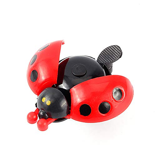 Alomejor Kids Bicycle Bell Ring Mini Kawaii Cute Animal Ladybug Shape Toddler Bike Bell Lovely Gift for Children Outdoor Fun