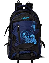 F Gear Orion Polyester 46 Ltrs Navy Blue,Black Trekking Backpack (2555)