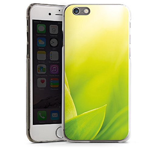 Apple iPhone 6 Housse Étui Silicone Coque Protection Brin d'herbe Feuilles Nature CasDur transparent