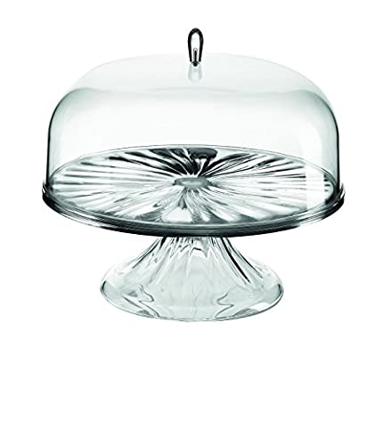 Guzzini Look Cake Stand with Dome, 10-2/3-Inch, Transparent Chrome by Guzzini