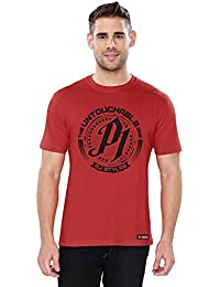 The Souled Store WWE AJ Styles Untouchable Sports Printed Premium RED Cotton T-shirt for Men Women and Girls