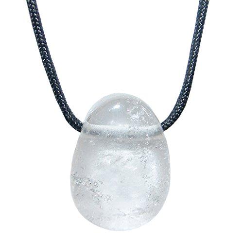 Bergkristall und viele andere Steinsorten flache Edelsteine / Trommelsteine Anhänger gebohrt