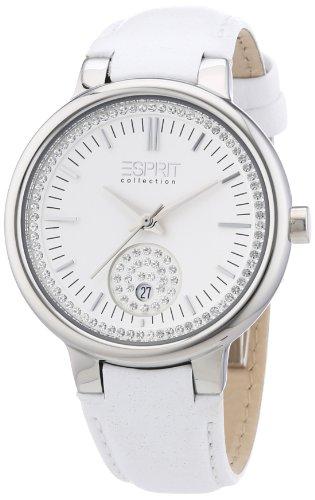 Esprit Damen-Armbanduhr Maia white Analog Quarz Leder EL101972F01