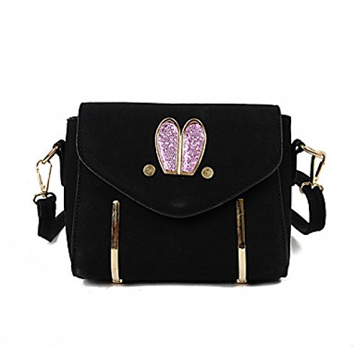DFUCF Damen Damen PU Büro Beruf Umhängetasche Kuriertasche Handtasche Umhängetasche Tasche Mode Lässig Robust Langlebig Black