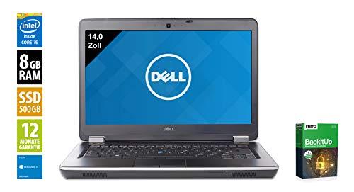 Dell Latitude E6440 | Notebook | Laptop | 14,0 Zoll (1600x900) | Intel Core i5-4300M @ 2,6 GHz | 8GB DDR3 RAM | 500GB SSD | DVD-Brenner | Webcam | Windows 10 Home (Zertifiziert und Generalüberholt) Dell Laptop Latitude Notebooks
