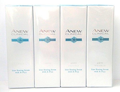 4 x avon anew clinical anti wrinkle siero correttore rughe con a-f33 30ml - 1.0oz set