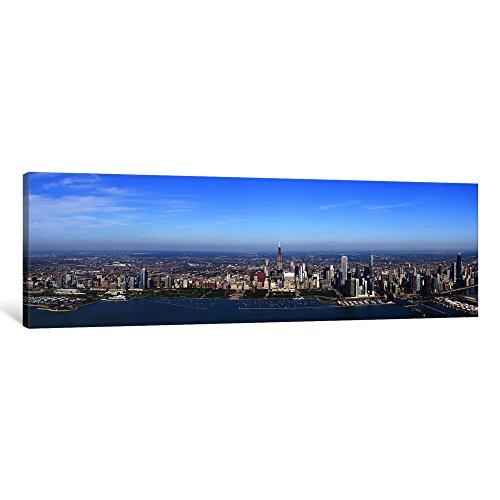 iCanvasART 1Stück Blick von Einer Stadtbild, Trump International Hotel and Tower, Willis Tower, Chicago, Cook County, Illinois, USA Leinwand Kunstdruck Panorama Bilder, 121,9x 40,6cm/3,8cm Tiefe -