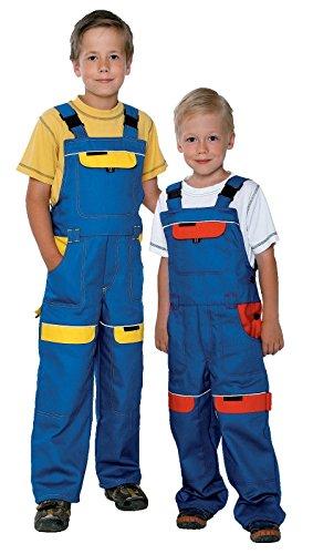Kinder Arbeitshose Latzhose 100% Baumwolle Berufsbekleidung Kinder Anzug Overalls , Blau / Gelb - 104 EU