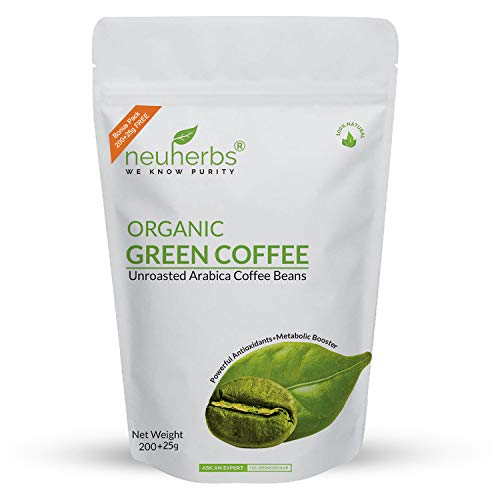 Neuherbs Organic Green Coffee Beans for Weight Loss 200g+25g Free