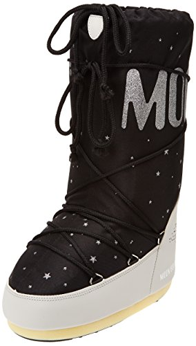 Moon Boot Space Scarpe sportive outdoor, Unisex adulto, Nero (Nero/Beige), 35/38