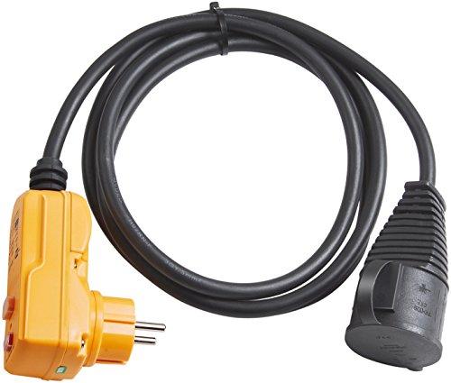 Brennenstuhl Schutzadapterleitung FI IP44 2m schwarz, 1160370