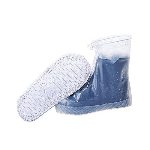 Impermeable para zapatos, reutilizable, suela gruesa, antideslizante, resistente al desgaste, color blanco...