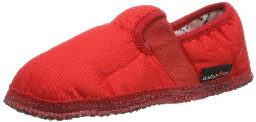 Haflinger Uno 628029, Chaussons mixte enfant Rouge - Red - Rot (rubin)