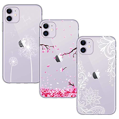 AROYI Cover iPhone 7 / iPhone 8 Trasparente Natale Pattern