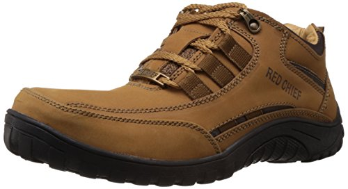 Redchief Men's Rust Leather Trekking and Hiking Outdoor Boots - 9 UK  (RC5017 022) image