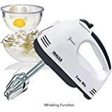 Inalsa Easy Mix 200-Watt Hand Mixer with 7 Speed (White/Black)