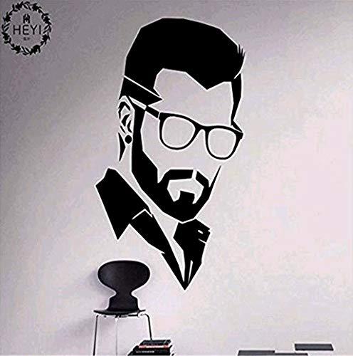 Brille Männer Feine Skulptur Kann Die Persönlichkeit Wand Paste Wohnzimmer Schlafzimmer Sofa Hintergrund Wand 57X97Cm Entfernen