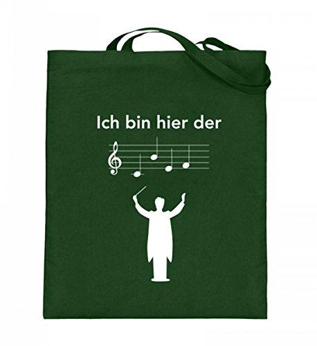 Hochwertiger Jutebeutel (mit langen Henkeln) - Perfekt für jeden Dirigenten! Grün