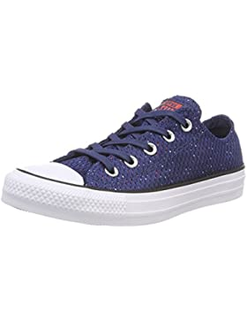 Converse CTAS Ox Navy/Bright Poppy/White, Zapatillas Unisex Adulto