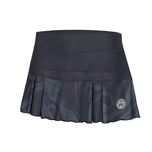 BIDI BADU Damen Tennis Rock - Liza Tech Skort - Anthracite/darkblue (FA18), Größe:L