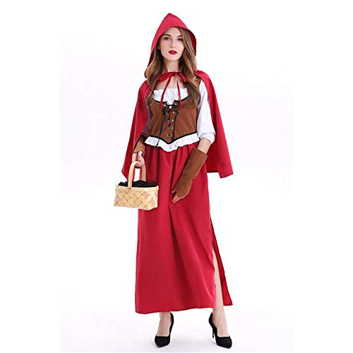 Yunfeng Hexenkostüm Damen Kleine rote Hut Magd Outfit -