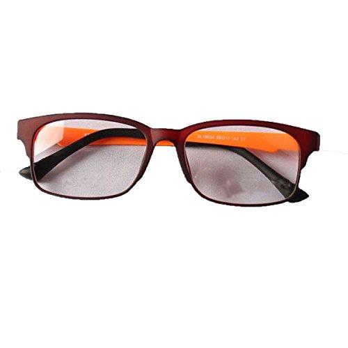 Burst-Modelle Männer Und Frauen Verzerren Nicht Europa Und Die Vereinigten Staaten Retro-Brille Rahmen Multicolor Optional,Mattemaroon-OneSize