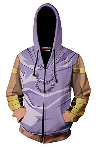 MingoTor Herren Damen Marik Ishtar Yu-Gi-Oh! Kapuzenjacke 3D Pullover mit Kapuze Sweatjacke Hoodie Cosplay Kostüm Unisex