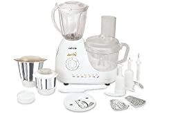 Maharaja Whiteline Smart Chef FP-300 600-Watt Food Processor (White)