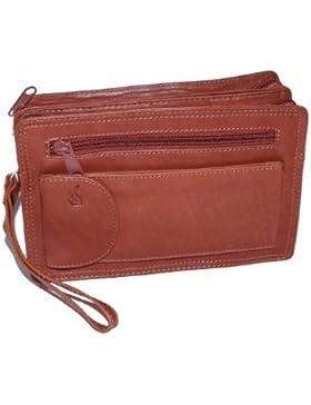 Herrentasche aus Rindleder LEAS in Echt-Leder, cognac - ''LEAS Men's Bags''
