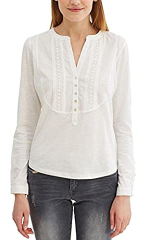 edc by ESPRIT 027cc1k062, T-Shirt Femme, Blanc (Off White), 40 (Taille Fabricant: Large)