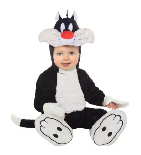 Kater Sylvester Babykostüm - 12-18 Monate (Sylvester Katze Kostüm)