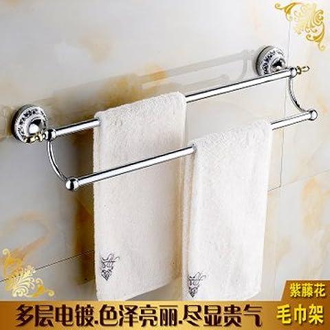 LLLDB Le stanze da bagno sono costruite in porcellana ripiano asciugamano da bagno rack asciugamano continentale rack in acciaio inox Kit Bagno appendiabiti , serie di porcellana - Doppia barra