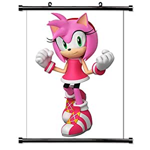 """Sonic the Hedgehog Game Fabric Wall Scroll Poster (16"""" x 23"""") Inches"""