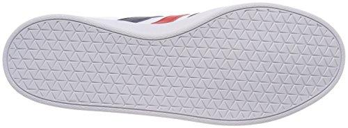 adidas VL Court 2.0, Scarpe da Ginnastica Basse Uomo Bianco (Footwear White/collegiate Navy/core Red)